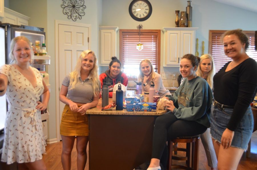 Senior Carly Berglund regularly welcomes her friends to her house for lunch during their senior privileges.