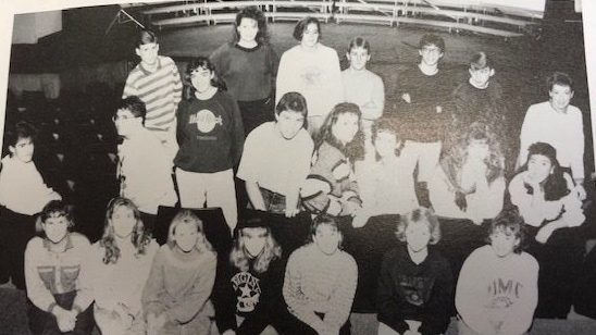 This is the staff my junior year, when I was the opinion page editor. I am the one in the Hard Rock Cafe sweatshirt.