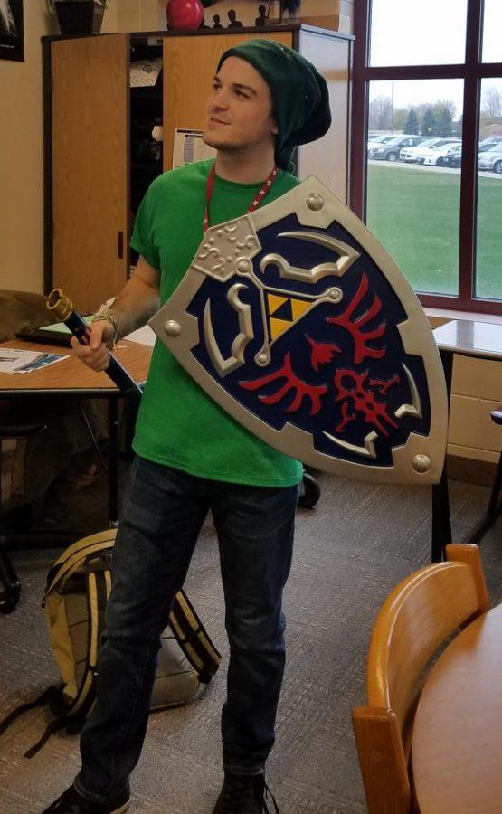 Mr. Womack as Link from Legend of Zelda