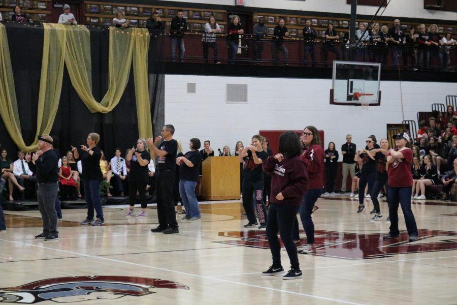 Teachers had a dance battle to some wacky Tick Tock videos.