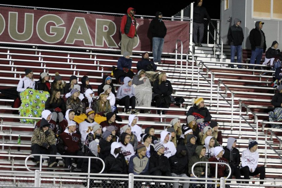 Even though it was in the low 40s at game time, that did not keep the Trojan fans away.