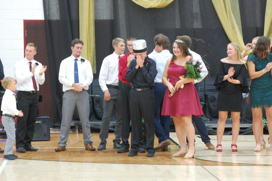 Seth+Dorner+and+Sadie+El-Wailli+are+the+2019+Homecoming+King+and+Queen.