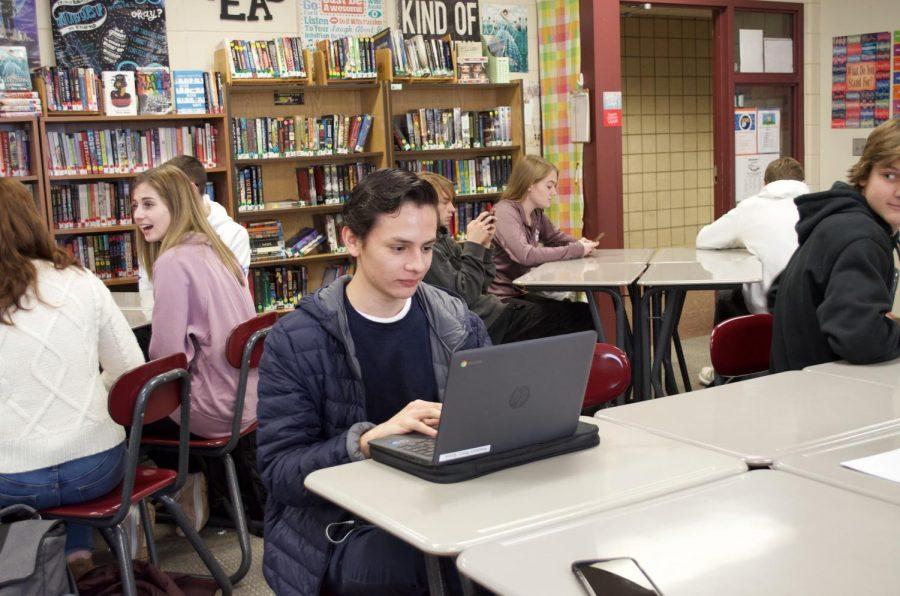 Kahim Perez experiences school in Minnesota. Here is is in U.S. Literature.