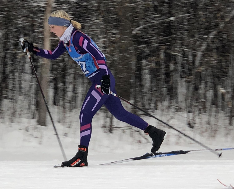 Senior Elsie Hatlevig is the lone NPHS member of the Prior Lake Savage nordic ski team.