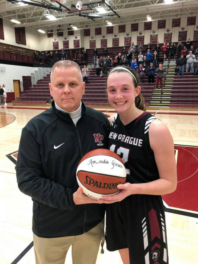 Giesen hits 1,000th career point