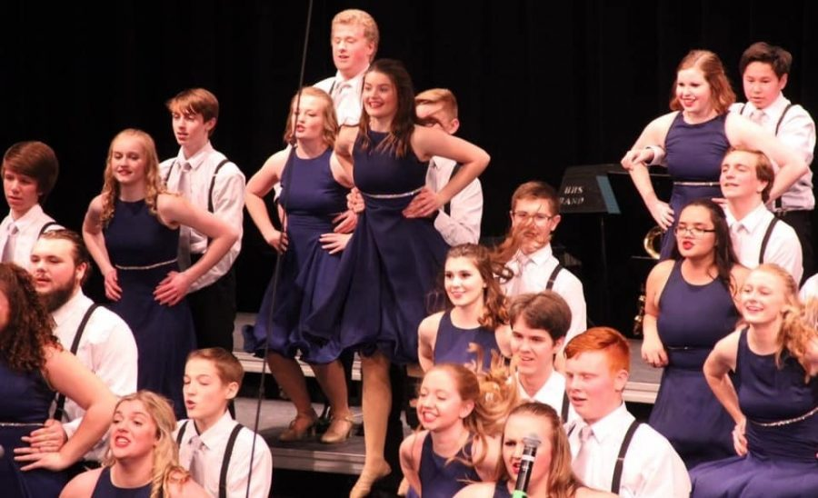 Emotion members showed their stuff at the Hastings Show Choir competition Saturday, February 22.