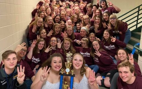 Emotion placed 3rd at this year's Show Choir competition in Hastings. Nicole Thietje is the director.