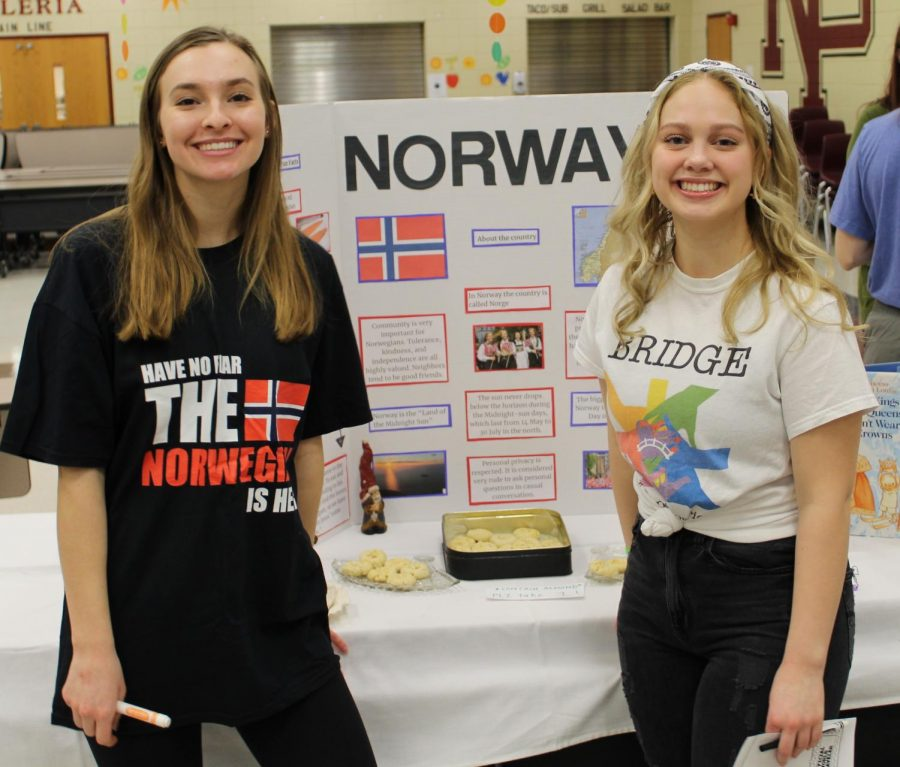 Georgia Trygestad and Grace Knutson proudly represented Norway.