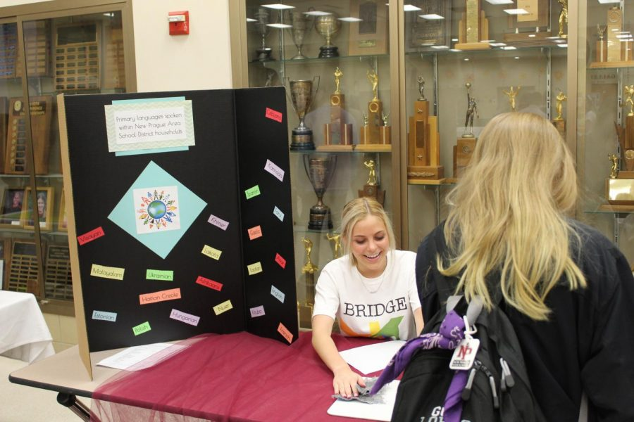 Students were encouraged to complete a passport activity as they visited the culture fair.