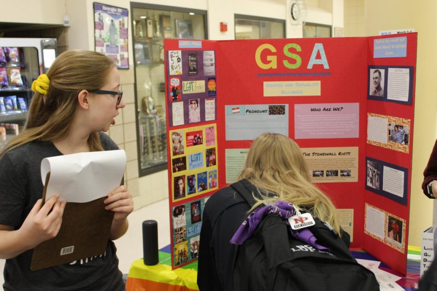 The Gay Straight Alliance educated students about preferred pronouns and other issues important to those in the LGBT community.