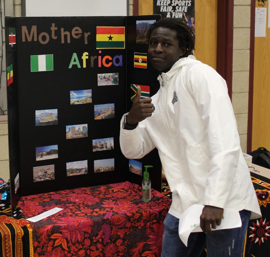 John Wacker is proud of his African heritage.