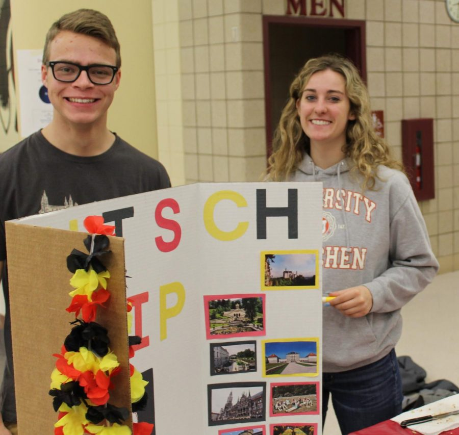 John Taylor and Lauren Moravchik, members of the NPHS German Club, share some German heritage.