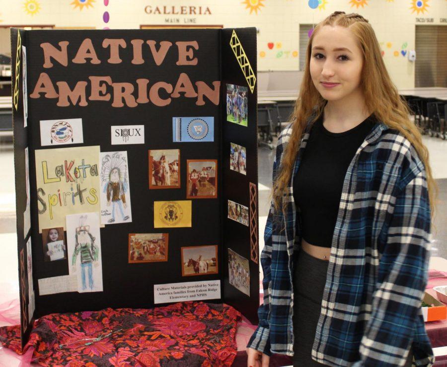 Kristen Zweber represents her Native American heritage.