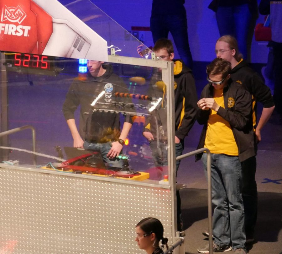 Time Bots controlling their technology during the competition.