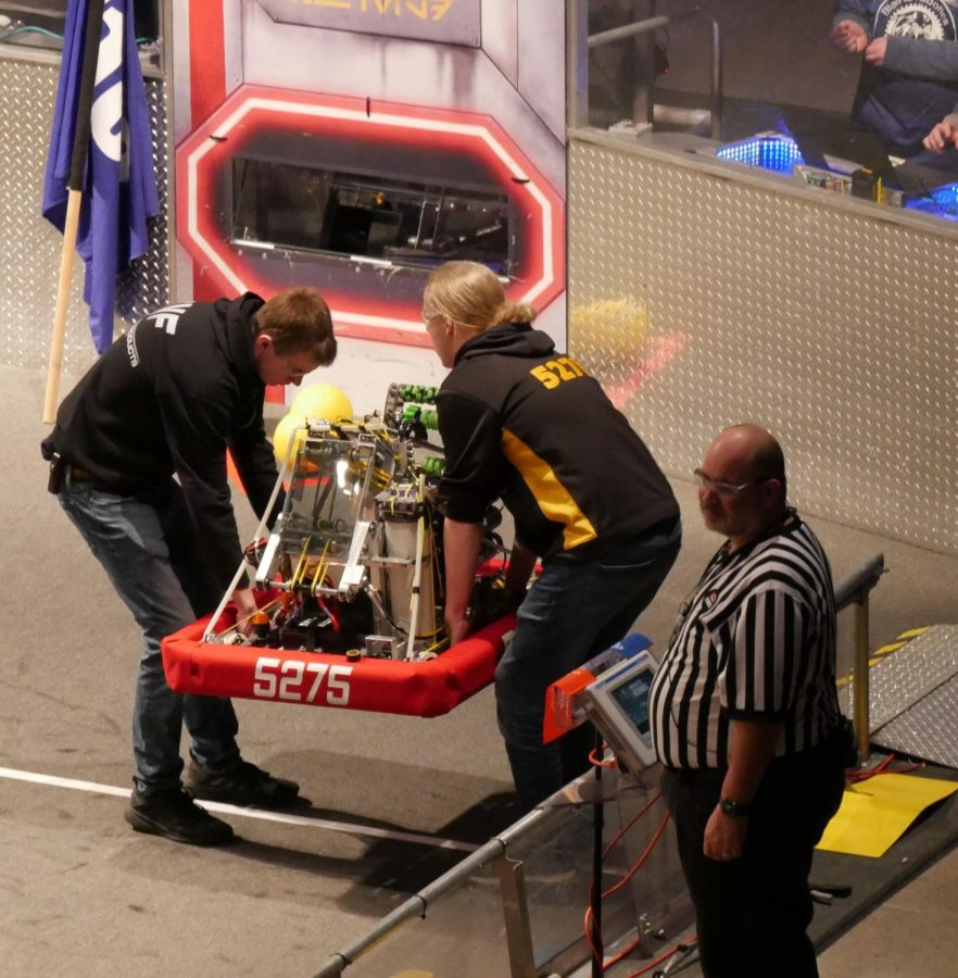 Time Bots get ready for competition.