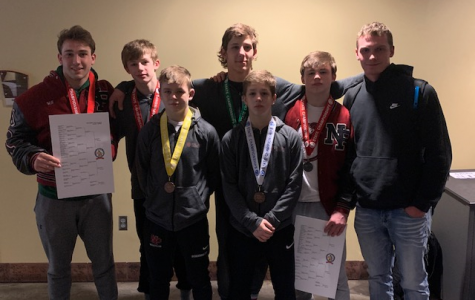 Seven wrestlers represented NPHS at the state wrestling tournament February 28-29 in St. Paul.