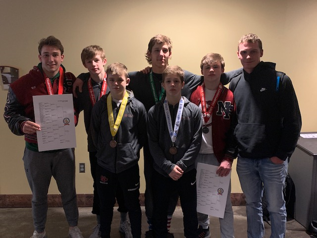 Seven+wrestlers+represented+NPHS+at+the+state+wrestling+tournament+February+28-29+in+St.+Paul.