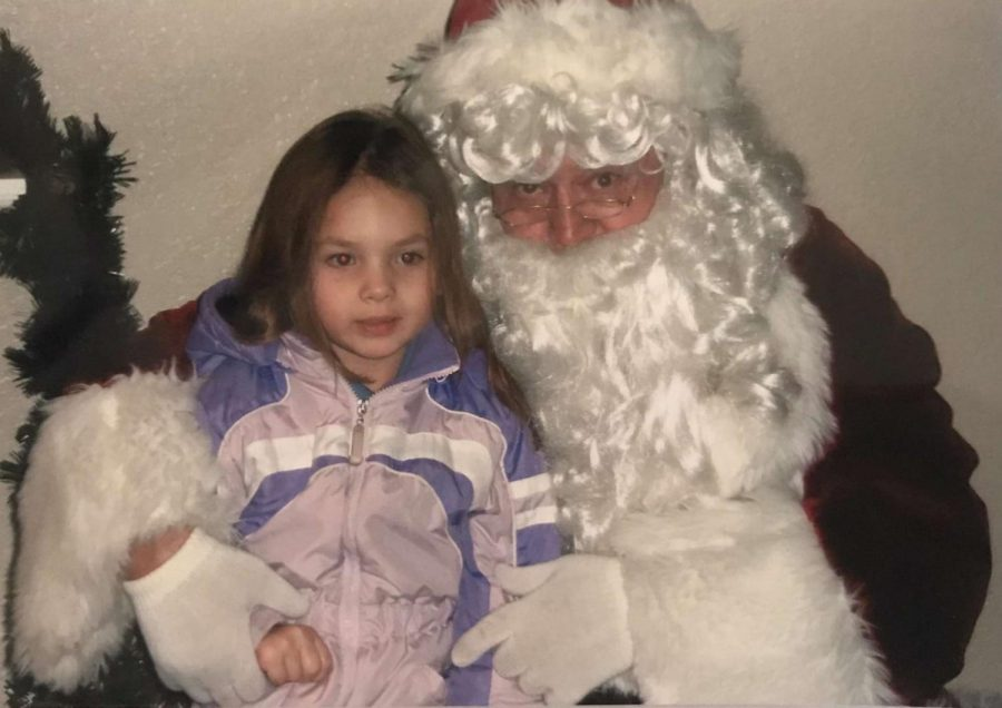 It seems Klaire Anderson made visiting Santa a yearly tradition.