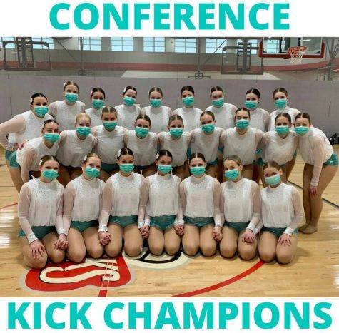 Dance Team are Wright County Conference Kick Champions