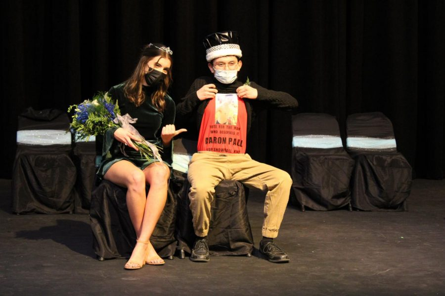 Allie Schmidt and Aaron Paul crowned at Snoball coronation