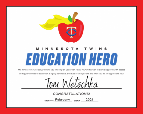 Wetschka named Minnesota Twins Education Hero