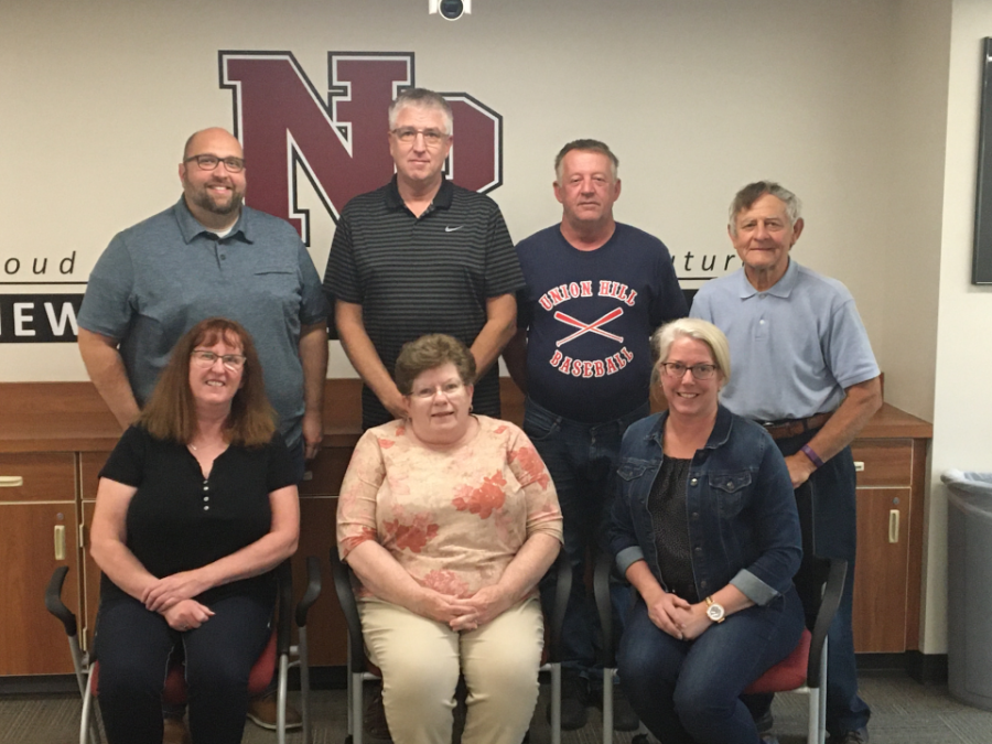 Top row from left to right: Board Vice Chair Matt Goldade, Director Mark Bartusek, Director Leo Giesen, and Board Clerk Dennis Havlicek. Bottom row from left to right: Board Treasurer Kim Holden, Director Jeanne Kubes, and Board Chair Tammy Pexa.