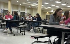 Lunches are back to full capacity with tables spread out into the entry way and locker bank area to accommodate distancing.