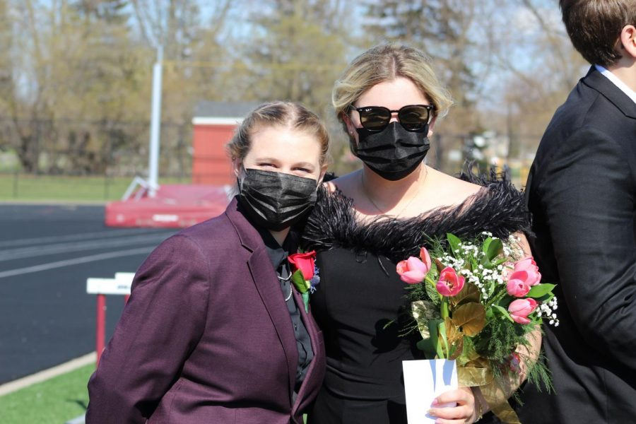 Masks were in high fashion for the NPHS prom.