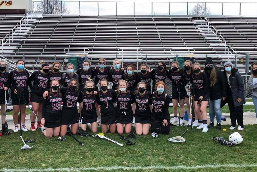 Varsity girls lacrosse won their first ever varsity match against Northfield.
