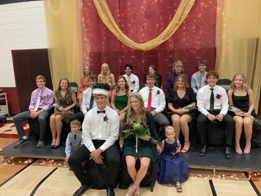 Emma Gullickson and Ian DeGross were crowned the 2021 Homecoming Queen and King.